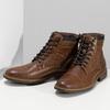 Pánská hnědá kotníčková obuv s prošitím bata-red-label, hnědá, 891-3608 - 16