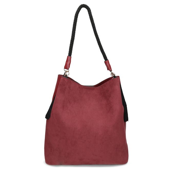 Červená dámská kabelka s popruhem bata, červená, 961-5816 - 26