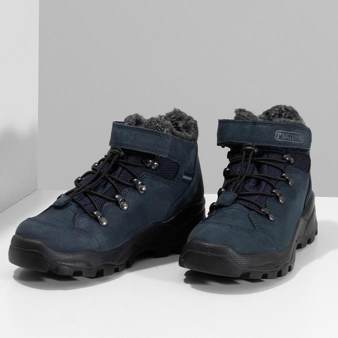Modrá dětská zimní obuv z broušené kůže primigi, modrá, 416-9645 - 16