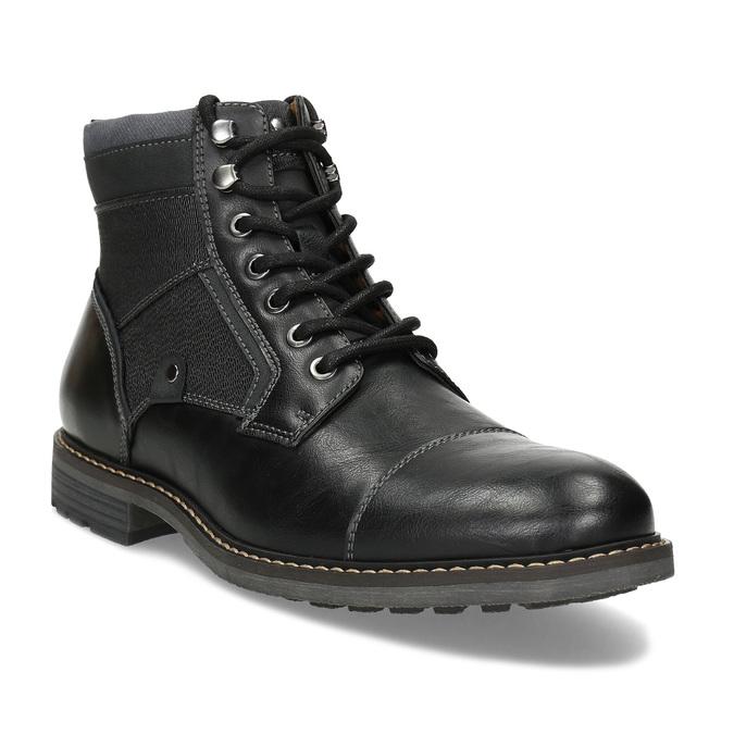 Černá pánská kotníčková zimní obuv bata-red-label, černá, 891-6608 - 13