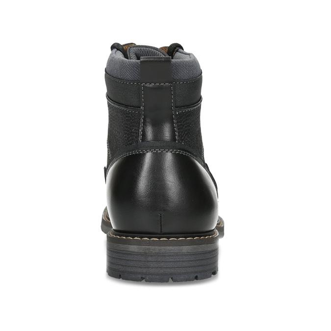 Černá pánská kotníčková zimní obuv bata-red-label, černá, 891-6608 - 15