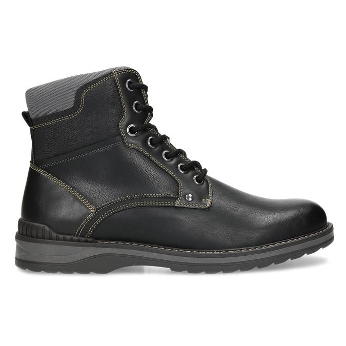 Pánská černá kotníčková obuv s prošitím bata-red-label, černá, 891-6606 - 19