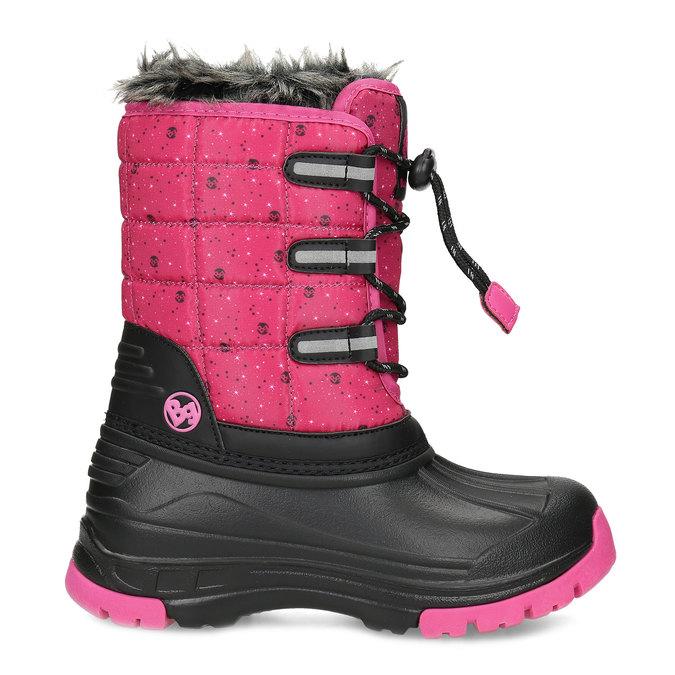 Růžové dětské sněhule se zateplením bubblegummers, růžová, 392-5601 - 19