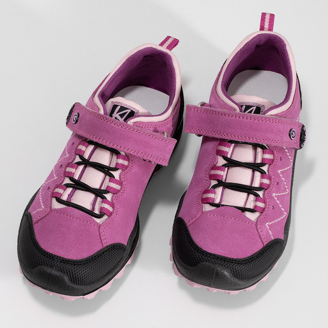 kožené dívčí tenisky v outdoorovém stylu mini-b, růžová, 423-5648 - 16