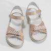 Růžové dětské sandály s kamínky mini-b, růžová, 461-5642 - 16