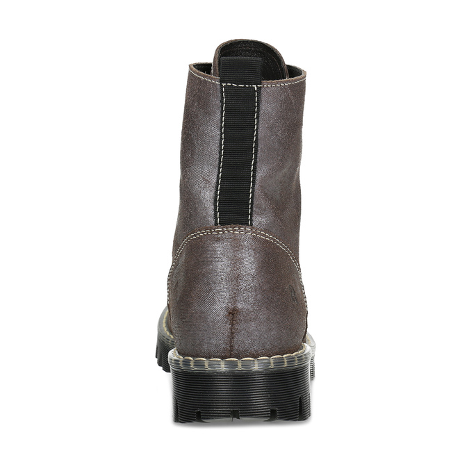 Metalická dámská kožená kotníčková obuv bata-125th-anniversary, hnědá, 549-4604 - 15