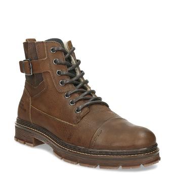 Kožená pánská kotníčková obuv se zateplením bata, hnědá, 896-4600 - 13