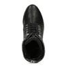 Černé dámské kožené kozačky bata, černá, 694-6607 - 17