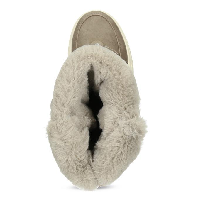 Dámské béžové zimní sněhule s kožíškem weinbrenner, béžová, 599-2633 - 17