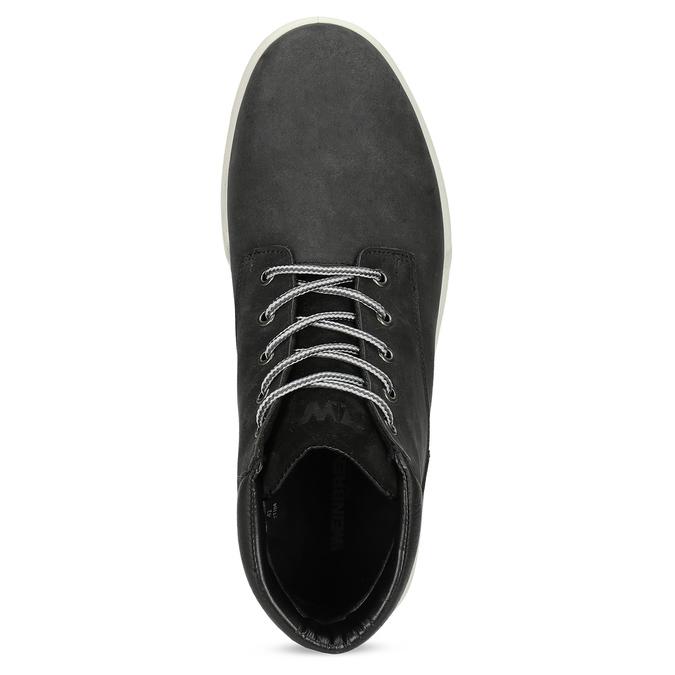 Černá pánská kotníčková obuv z broušené kůže weinbrenner, černá, 896-6396 - 17
