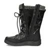 Černé dámské sněhule s úpletem bata, černá, 599-6634 - 17