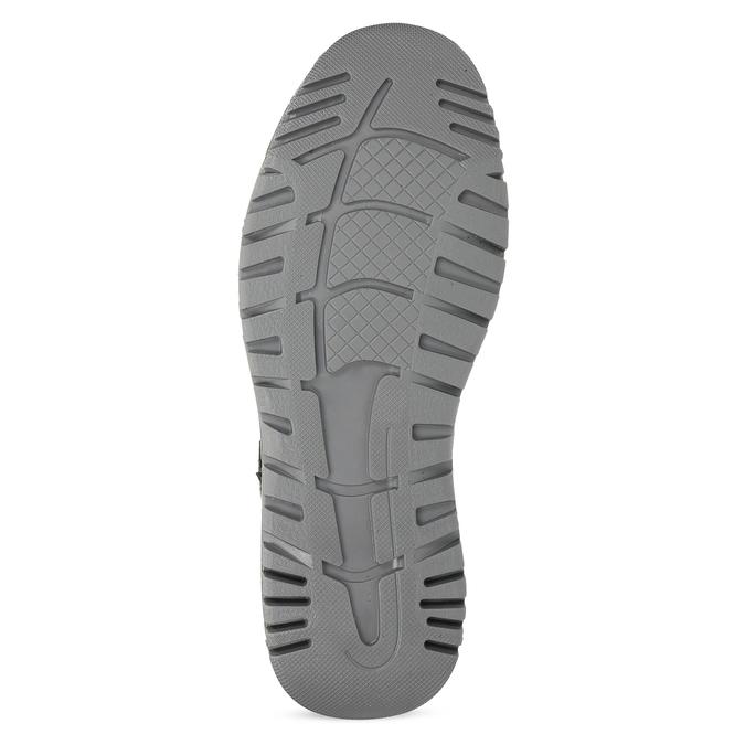 Černá pánská kotníčková obuv z broušené kůže weinbrenner, černá, 896-6396 - 18