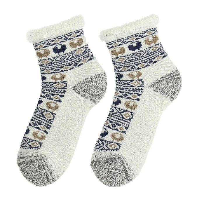 Dámské termo ponožky se vzorem matex, béžová, 919-9617 - 26