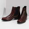 Kožená bordó dámská obuv v Chelsea stylu bata, 594-4447 - 16