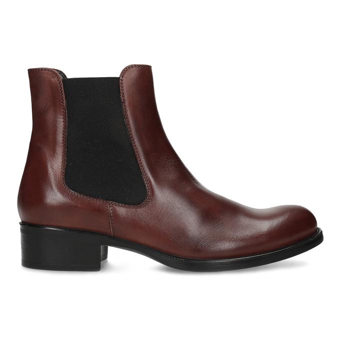 Kožená bordó dámská obuv v Chelsea stylu bata, 594-4447 - 19