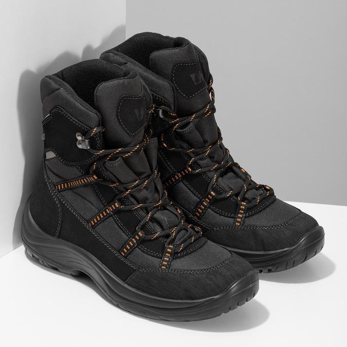 Černé pánské kožené sněhule weinbrenner, černá, 899-6602 - 26