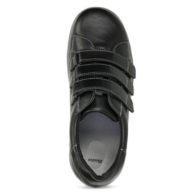 Pánská zdravotní obuv na suchý zip medi, černá, 854-6609 - 17