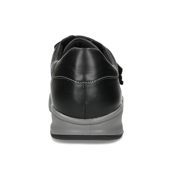 Pánská zdravotní obuv na suchý zip medi, černá, 854-6609 - 15