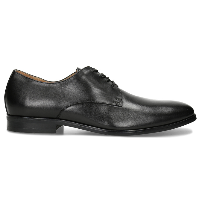 Černé pánské kožené Derby polobotky bata, černá, 824-6629 - 19