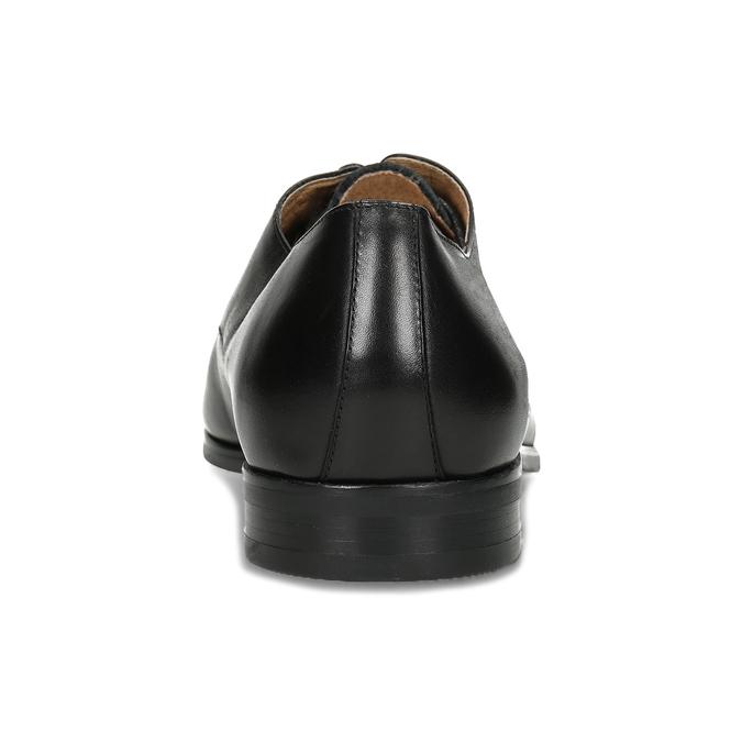 Černé pánské kožené Derby polobotky bata, černá, 824-6629 - 15
