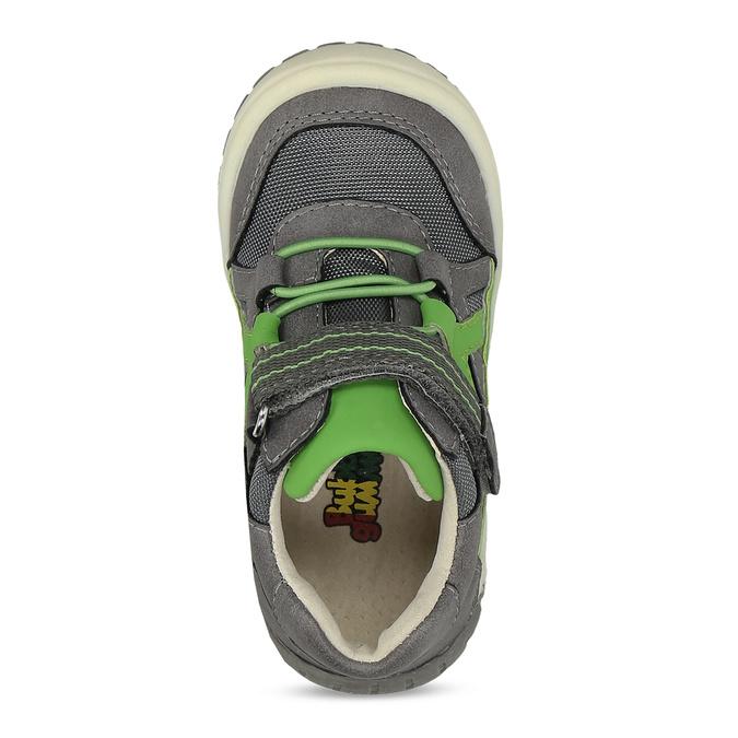 Šedá dětská kotníčková obuv bubblegummers, šedá, 111-2634 - 17