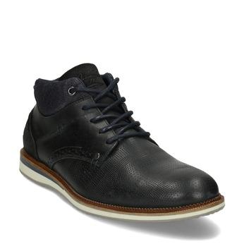 Kožená pánská černá kotníčková obuv bata, černá, 826-6603 - 13