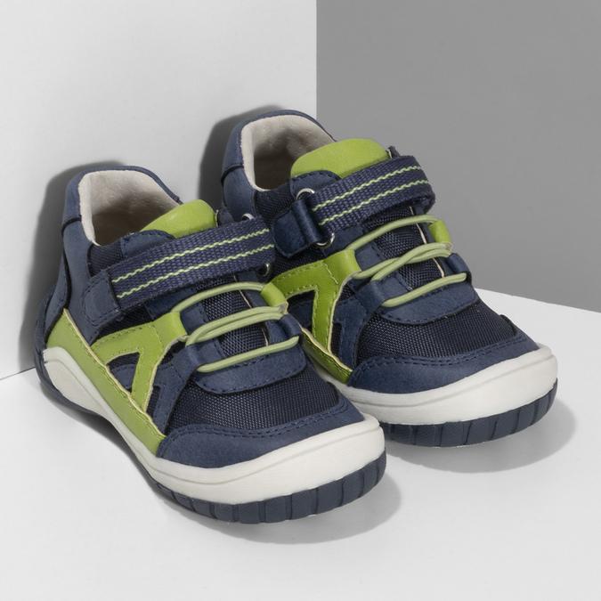 Modrá dětská kotníčková obuv bubblegummers, modrá, 111-9634 - 26