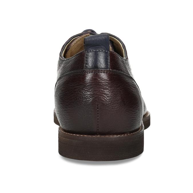 Pánské kožené polobotky v Derby stylu bata, červená, 826-5664 - 15