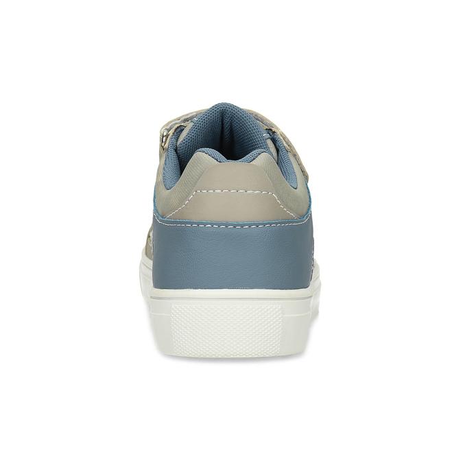 Dětské ležérní tenisky na suché zipy mini-b, šedá, 411-2618 - 15