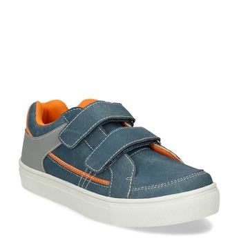 Dětské modré tenisky s oranžovými detaily mini-b, modrá, 411-9618 - 13