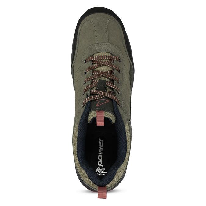 Pánské kožené khaki tenisky v outdoor stylu power, khaki, 803-3481 - 17