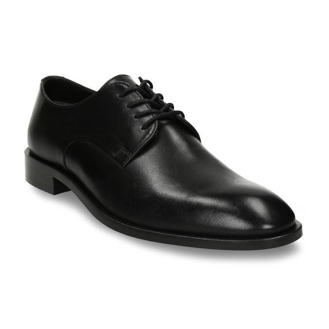 Pánské kožené černé derby polobotky bata, černá, 824-6680 - 13