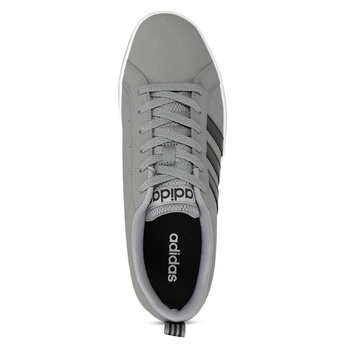 Pánské šedé tenisky městského stylu s černými detaily adidas, šedá, 801-2393 - 17