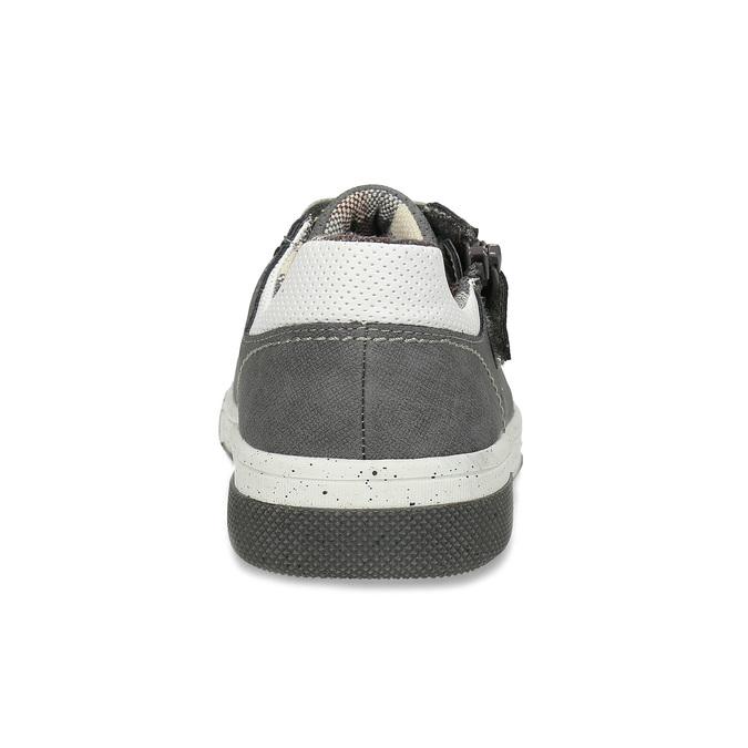 Šedé dětské ležérní tenisky se zipem mini-b, šedá, 411-2620 - 15