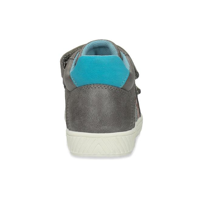 Dětské šedé kotníčkové tenisky mini-b, šedá, 211-2636 - 15