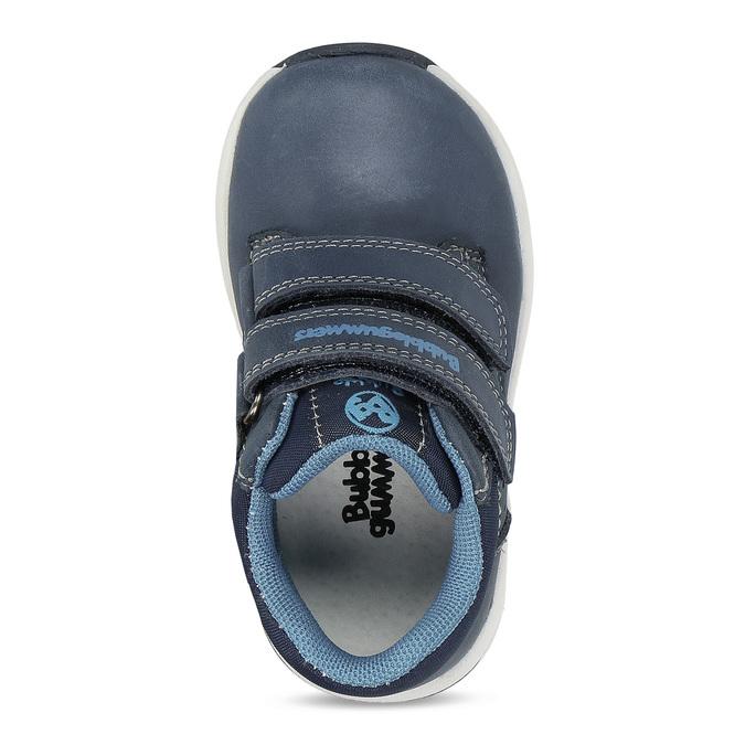 Dětská modrá kožená kotníčková obuv bubblegummers, modrá, 116-9618 - 17