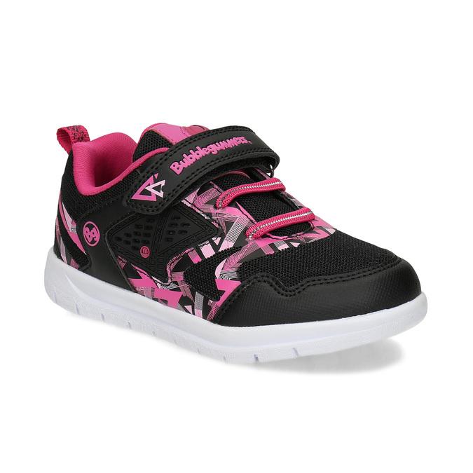 Černé dětské tenisky s růžovými detaily bubble-breathe, černá, 321-6607 - 13