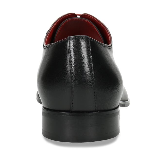 Kožené pánské polobotky černé conhpol, černá, 824-6731 - 15