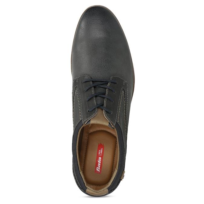 Pánské šedé neformální polobotky bata-red-label, šedá, 821-2612 - 17