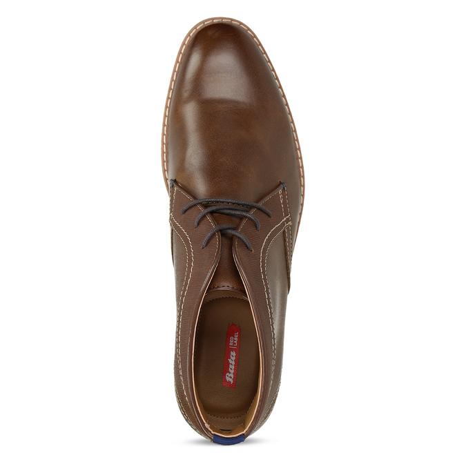 Pánské hnědé neformální kotníkové boty bata-red-label, hnědá, 821-4607 - 17