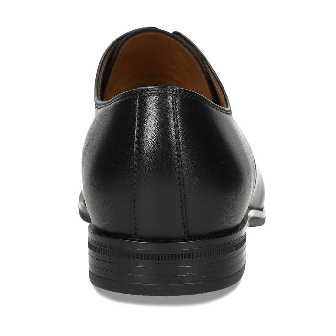 Pánské kožené černé derby polobotky conhpol, černá, 824-6723 - 15