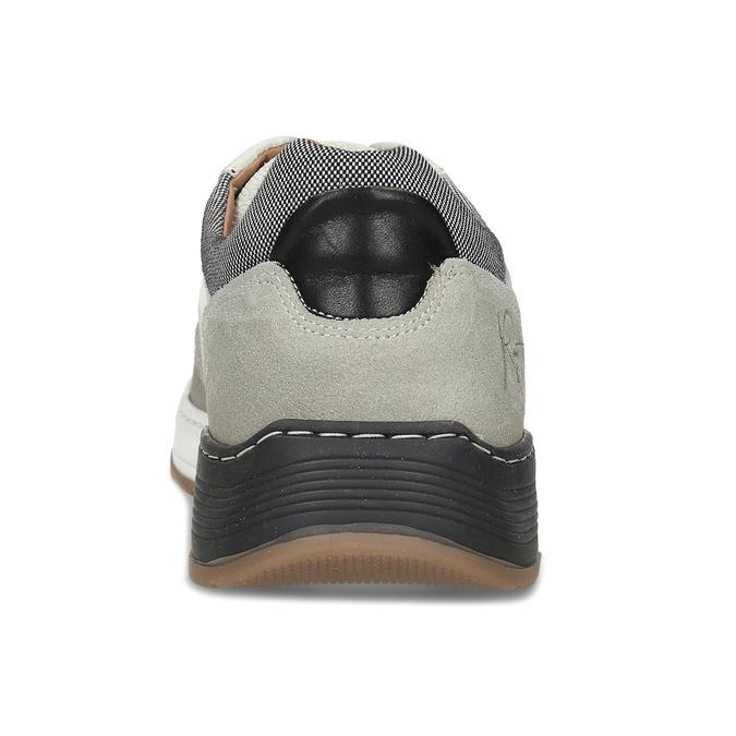 Bílé kožené ležérní tenisky bata, šedá, 846-1602 - 15