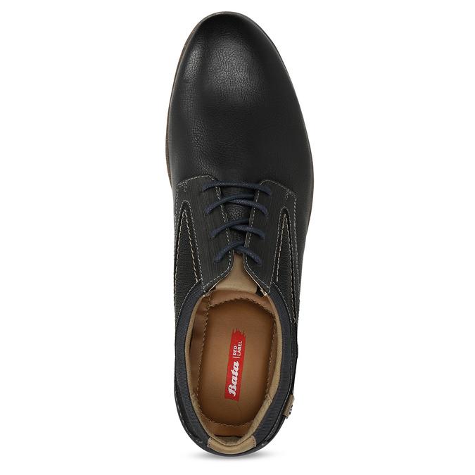 Černé pánské ležérní polobotky bata-red-label, černá, 821-6612 - 17