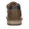 Pánské kožené hnědé neformální polobotky bata, hnědá, 826-3604 - 15