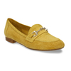 Žluté dámské mokasíny z broušené kůže bata, žlutá, 513-8601 - 13