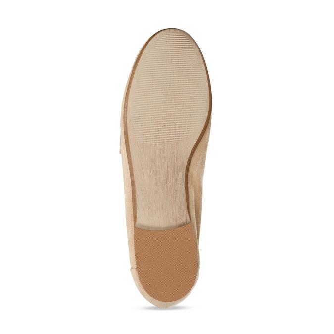 Béžové dámské mokasíny z broušené kůže bata, béžová, 513-3601 - 18