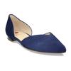 Dámské kožené modré baleríny hogl, modrá, 523-9103 - 13