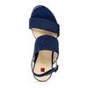 Dámské kožené modré páskové sandály hogl, modrá, 563-9103 - 17