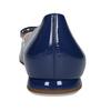 Dámské kožené modré baleríny se sponou hogl, modrá, 528-9101 - 15