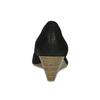 Černé kožené lodičky na přírodním klínku bata, černá, 626-6602 - 15